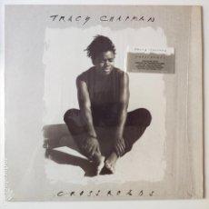 Discos de vinilo: TRACY CHAPMAN- CROSSROADS- EUROPE LP 1989 + 2 ENCARTES- COMO NUEVO.. Lote 277217443
