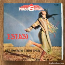 Discos de vinilo: VV.AA. - ESTASI - DISCO DEMOSTRATIVO PHASE 5 SUPER STEREO - LP PALOBAL 1972. Lote 277220618