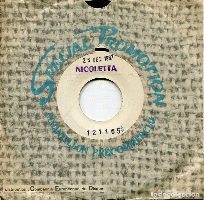 NICOLETTA / DONNE MOI / ALORS FERMEZ LA PORTE (SINGLE PROMOCIONAL FRANCES 26/12/67 (Música - Discos - Singles Vinilo - Canción Francesa e Italiana)