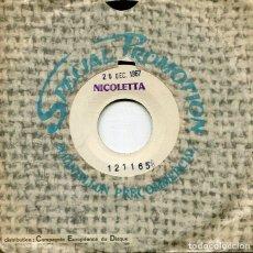 Discos de vinilo: NICOLETTA / DONNE MOI / ALORS FERMEZ LA PORTE (SINGLE PROMOCIONAL FRANCES 26/12/67. Lote 277221783