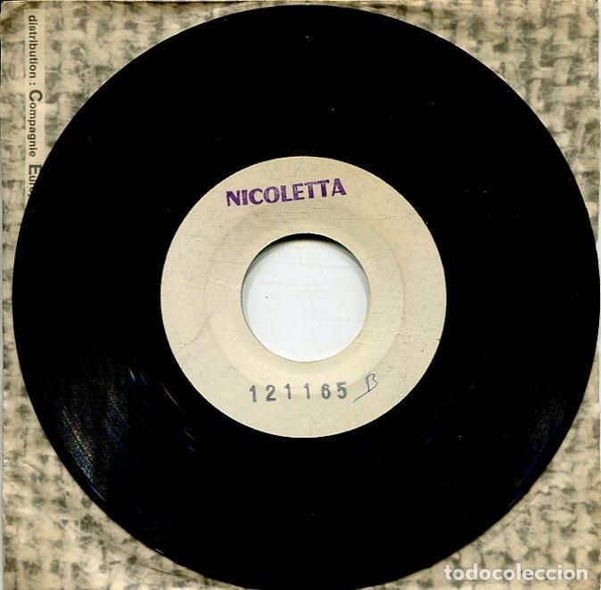 Discos de vinilo: NICOLETTA / DONNE MOI / ALORS FERMEZ LA PORTE (SINGLE PROMOCIONAL FRANCES 26/12/67 - Foto 3 - 277221783
