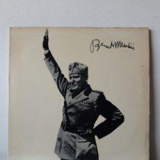 Discos de vinilo: BENITO MUSSOLINI. SOUVENIR RECORDS. 185-186/33. ITALIA.. Lote 277223493