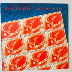 Discos de vinilo: DIRE STRAITS- CALLING ELVIS- SPAIN MAXI SINGLE 1991- EXC. ESTADO.. Lote 277225478