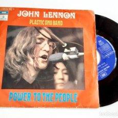 Disques de vinyle: YOCO ONO JOHN LENNON PLASTIC BAND DISCO VINILO 45 RPM. Lote 277228738