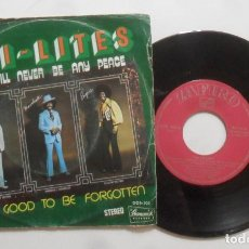 Discos de vinilo: SINGLE - THE CHI-LITES - A: THERE WILL NEVER BE ANY PEACE - B: TOO GOOD TO BE FORGOTTEN - ZAFIRO - 1. Lote 277237168