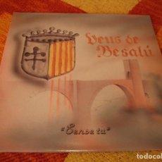 Discos de vinilo: VEUS DE BESALU LP SENSE TU ECB ESPAÑA 1987 DESPLEGABLE. Lote 277243043