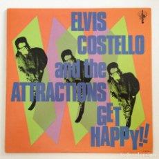 Discos de vinilo: ELVIS COSTELLO & THE ATTRACTIONS – GET HAPPY! USA,1984 COLUMBIA. Lote 277244198