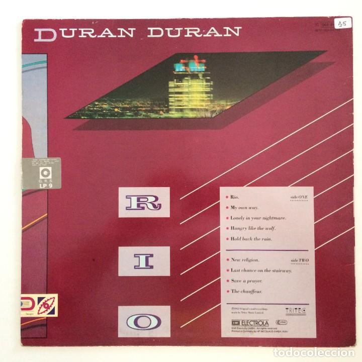 Discos de vinilo: Duran Duran – Rio Germany.1987 EMI - Foto 2 - 277263833