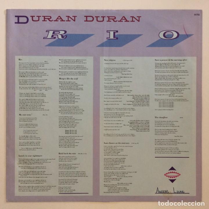 Discos de vinilo: Duran Duran – Rio Germany.1987 EMI - Foto 4 - 277263833