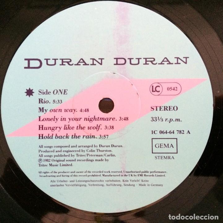 Discos de vinilo: Duran Duran – Rio Germany.1987 EMI - Foto 5 - 277263833