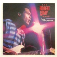 Discos de vinilo: THE ROBERT CRAY BAND – FALSE ACCUSATIONS USA,1985 HIGHTONE RECORDS. Lote 277266728