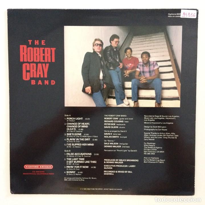 Discos de vinilo: The Robert Cray Band – False Accusations USA,1985 Hightone Records - Foto 2 - 277266728