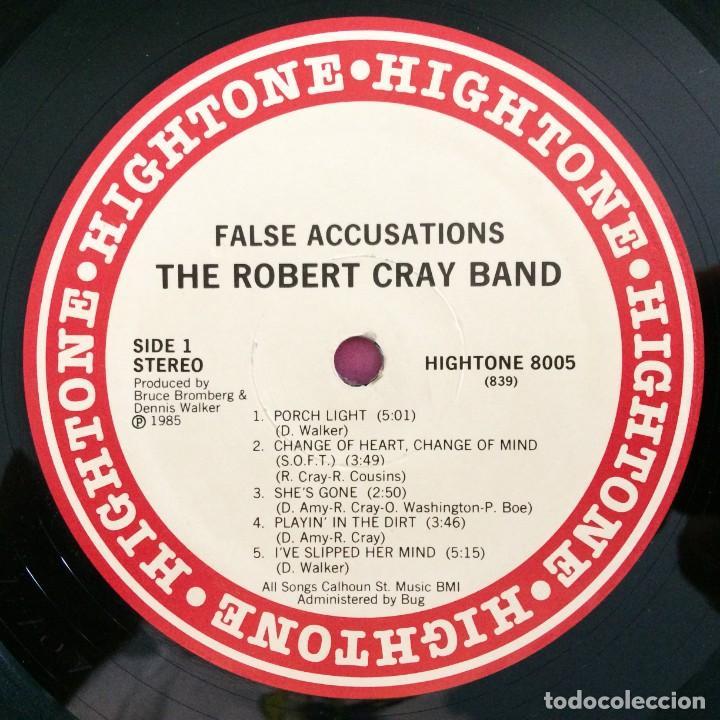 Discos de vinilo: The Robert Cray Band – False Accusations USA,1985 Hightone Records - Foto 3 - 277266728