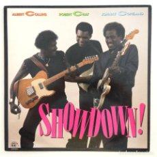 Discos de vinilo: ALBERT COLLINS - ROBERT CRAY - JOHNNY COPELAND – SHOWDOWN! USA,1985 ALLIGATOR RECORDS. Lote 277268788