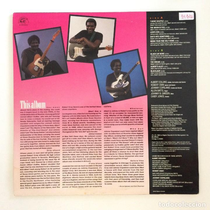 Discos de vinilo: Albert Collins - Robert Cray - Johnny Copeland – Showdown! USA,1985 Alligator Records - Foto 2 - 277268788