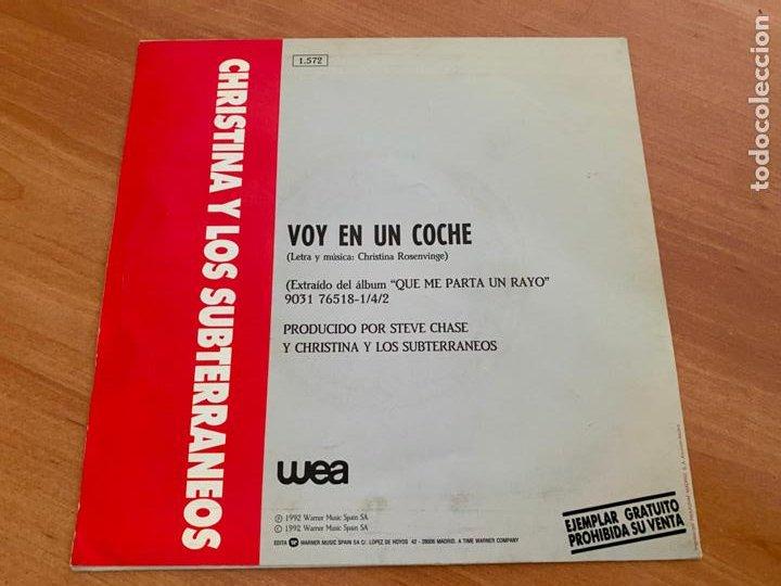 Discos de vinilo: CHRISTINA Y LOS SUBTERRANEOS (VOY EN UN COCHE) SINGLE 1992 PROMO (EPI24) - Foto 3 - 277271843