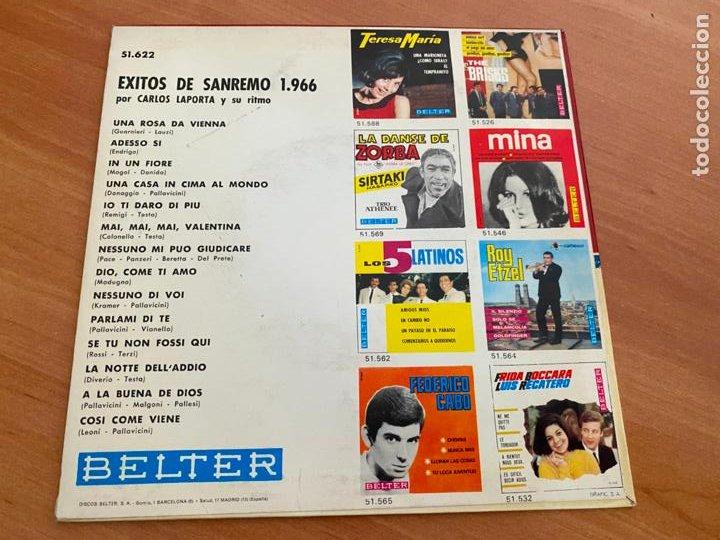 Discos de vinilo: CARLOS LAPORTA (EXITOS SAN REMO) EP 1966 (EPI24) - Foto 3 - 277272178