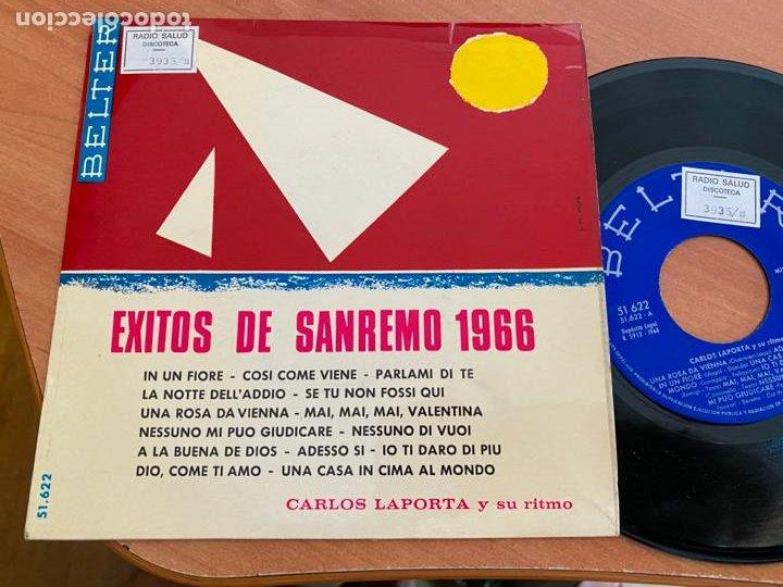 CARLOS LAPORTA (EXITOS SAN REMO) EP 1966 (EPI24) (Música - Discos de Vinilo - EPs - Otros Festivales de la Canción)