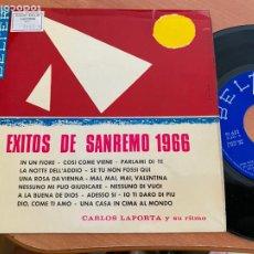 Discos de vinilo: CARLOS LAPORTA (EXITOS SAN REMO) EP 1966 (EPI24). Lote 277272178