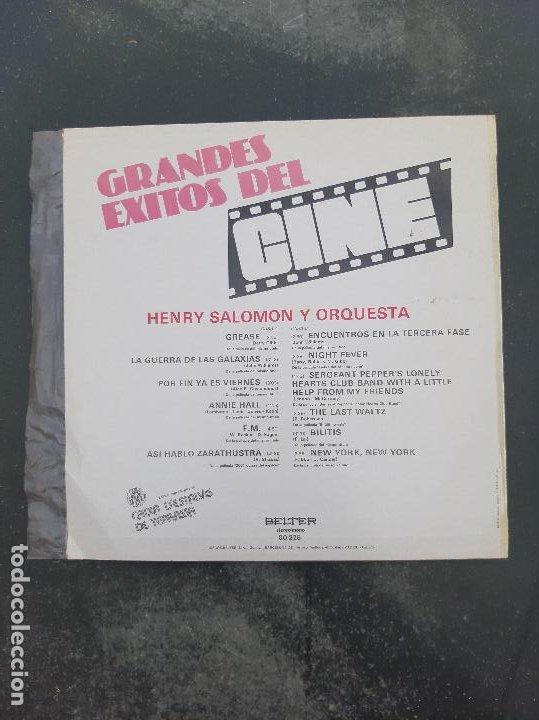 Discos de vinilo: Disco Grandes Exitos Del Cine (La Guerra de las Galaxias,Grease,Encuentros en la tercera fase etc) - Foto 2 - 277272288