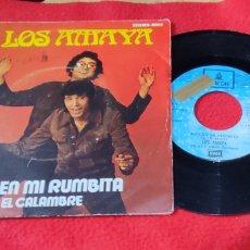 """Discos de vinilo: LOS AMAYA - BAILEN MI RUMBITA/ EL CALAMBRE 7""""1972 **PROMO** COMPILADO EN ACID RUMBA. Lote 277274838"""