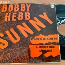 Discos de vinilo: BOBBY HEBB (SUNNY + 3) EP 1966 ESPAÑA (EPI24). Lote 277277728
