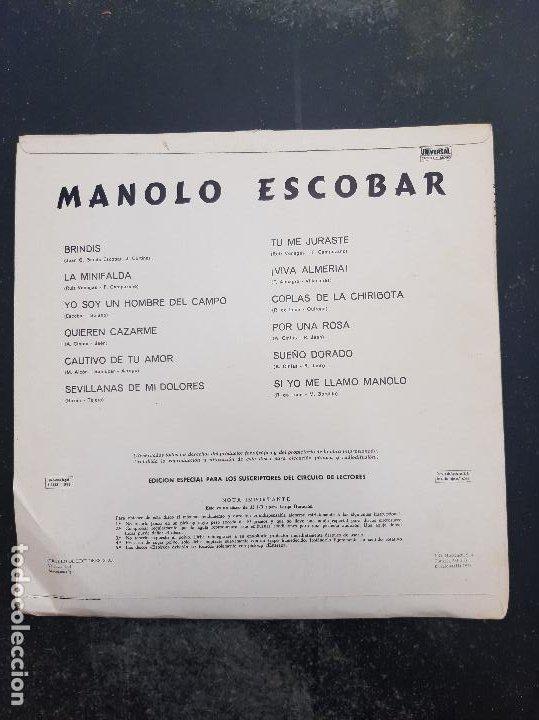 Discos de vinilo: Disco Manolo Escobar - Foto 2 - 277277758