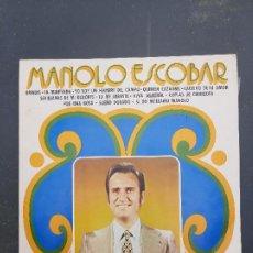 Discos de vinilo: DISCO MANOLO ESCOBAR. Lote 277277758