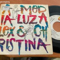 Discos de vinilo: ALEX Y CHRISTINA (A MEDIA LUZ) SINGLE 1988 ESPAÑA PROMO (EPI24). Lote 277278033