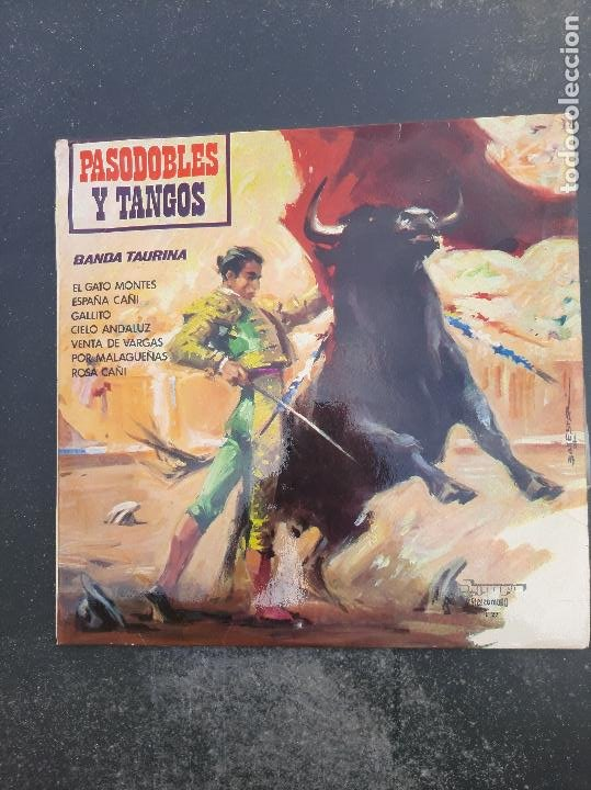 DISCO PASODOBLES Y TANGOS DE LA BANDA TAURINA (Música - Discos - Singles Vinilo - Otros estilos)