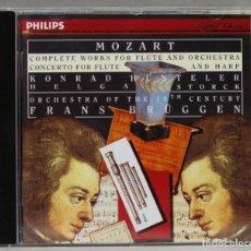 Discos de vinilo: CD. MOZART. COMPLETE WORKS FLOR FLUTE. CONCERTO FOR FLUTE AND HARP. BRUGGEN. Lote 277281793