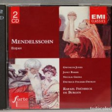 Discos de vinilo: 2 CD. MENDELSSOHN. ELIJAH. DE BURGOS. Lote 277282438