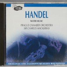 Discos de vinilo: CD. HANDEL. WATER MUSIC. MACKERRAS. Lote 277282773