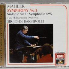 Discos de vinilo: CD. SYMPHONY 5. MAHLER. BARBIROLLI. Lote 277283108