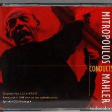 Discos de vinilo: CAJA CD. MITROPOULOS CONDUCTS MAHLER. Lote 277283268