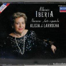 Discos de vinilo: 2 CD. IBERIA. NAVARRA. SUITE ESPAÑOLA. ALICIA LARROCHA. ALBENIZ. Lote 277283383