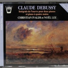 Discos de vinilo: 2 CD. INTÉGRALE DE L'OEUVRE POUR 2 PIANOS ET 4 MAINS. DEBUSSY. IVALDI. LEE. Lote 277283998