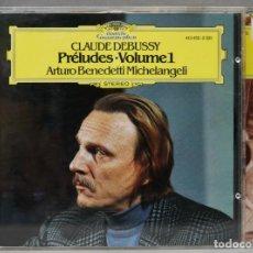 Discos de vinilo: CD. DEBUSSY. PRELUDES VOLUME 1 Y 2. MICHELANGELI. Lote 277284258