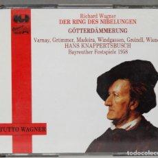 Discos de vinilo: CAJA CD. MAHLER. DER RING DES NIBELUNGEN. KNAPPERTSBUSCH. TUTTO WAGNER. Lote 277284478