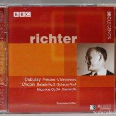 Discos de vinilo: 2 CD. RICHTER. CHOPIN. DEBUSSY. Lote 277284593