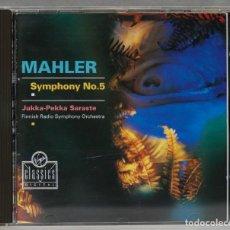 Discos de vinilo: CD. MAHLER. SYMPHONY 5. SARASTE. Lote 277285728