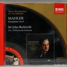 Discos de vinilo: CD. SYMPHONY NO.5. MAHLER. BARBIROLLI. Lote 277285788