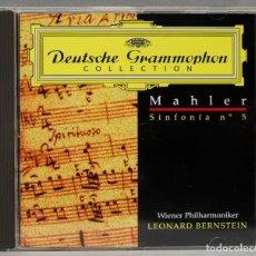 Discos de vinilo: CD. MAHLER. SINFONIA 5. BERNSTEIN. Lote 277285988