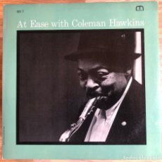 Discos de vinilo: COLEMAN HAWKINS - AT EASE WITH COLEMAN HAWKINS. Lote 277286433