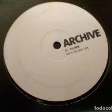Discos de vinilo: ARCHIVE * 12 MAXI VINILO * NUMB (NICK MUIR REMIXES) * UK 2001 * ULTRARARE. Lote 277295588