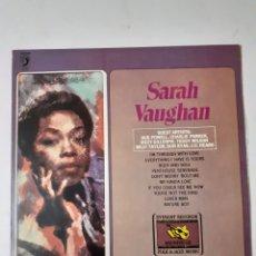 Discos de vinilo: SARA VAUGHAN. CON BUD POWELL, CHARLIE PARKER, DIZZY GILLESPIE... ESPAÑA 1981. J 4492.. Lote 277303208