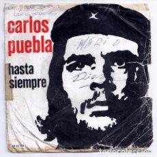 Discos de vinilo: DISCO SINGLE - CARLOS PUEBLA - SP 20 170 (1976). Lote 277304793