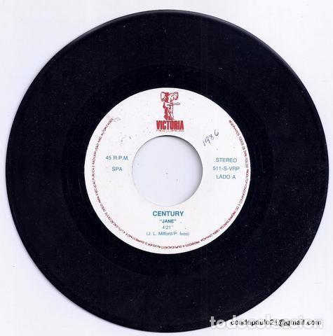 Discos de vinilo: DISCO SINGLE - CENTURY - 511-S-VRP (1986) - Foto 3 - 277304818