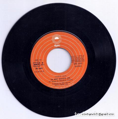 Discos de vinilo: DISCO SINGLE - CHARLIE RICH - EPC-2022 (1973) - Foto 3 - 277304848