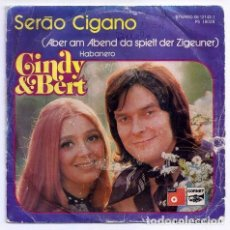 Discos de vinilo: DISCO SINGLE - CINDY & BERT - PS 18 028 (1974). Lote 277304893